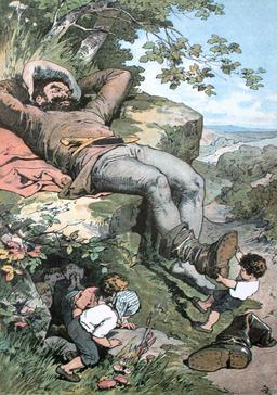 Le Petit Poucet et l'ogre. Source : http://data.abuledu.org/URI/5324be41-le-petit-poucet-et-l-ogre