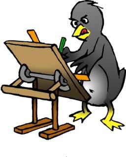 Le pingouin architecte du terrier d'Abulédu. Source : http://data.abuledu.org/URI/587834ef-le-pingouin-architecte-du-terrier-d-abuledu