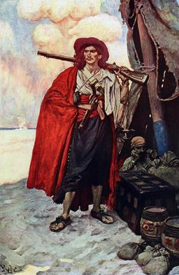 Le pirate-boucanier. Source : http://data.abuledu.org/URI/51855e89-le-pirate-boucanier