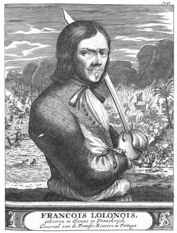 Le pirate François l'Olonnais au XVIIème siècle. Source : http://data.abuledu.org/URI/52c00bff-le-pirate-francois-l-olonnais-au-xviieme-siecle