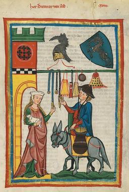 Le poète à la licorne. Source : http://data.abuledu.org/URI/52ed3deb-le-poete-a-la-licorne
