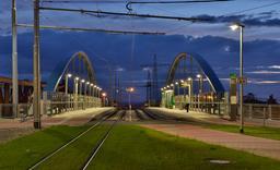 Le pont du tram à Weil am Rhein. Source : http://data.abuledu.org/URI/58dd741a-le-pont-du-tram-a-weil-am-rhein