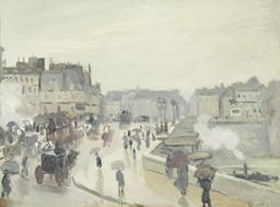 Le Pont Neuf à Paris en 1873. Source : http://data.abuledu.org/URI/596bf353-le-pont-neuf-a-paris-en-1873