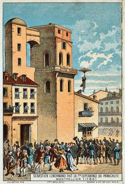 Le premier parachute. Source : http://data.abuledu.org/URI/5521c1ff-le-premier-parachute
