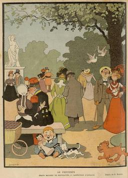 Le printemps au parc. Source : http://data.abuledu.org/URI/5180dab8-le-printemps-au-parc