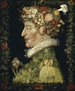 Le printemps d'Arcimboldo. Source : http://data.abuledu.org/URI/5171c50a-le-printemps-d-arcimboldo