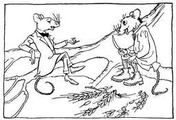 Le rat de ville et le rat des champs. Source : http://data.abuledu.org/URI/517d51cf-le-rat-de-ville-et-le-rat-des-champs