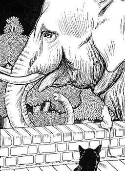Le Rat et l'Éléphant. Source : http://data.abuledu.org/URI/519c7341-le-rat-et-l-elephant
