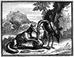 Le renard et la cigogne. Source : http://data.abuledu.org/URI/510c3a26-le-renard-et-la-cigogne