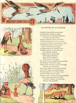 Le renard et la cigogne. Source : http://data.abuledu.org/URI/5197f10a-le-renard-et-la-cigogne