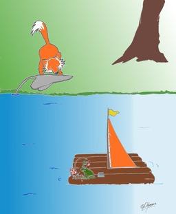 Le renard et la rainette. Source : http://data.abuledu.org/URI/53791bd8-le-renard-et-la-rainette