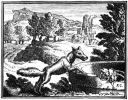 Le renard et le bouc. Source : http://data.abuledu.org/URI/510c4123-le-renard-et-le-bouc