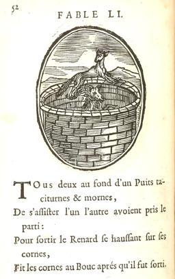 Le renard et le bouc. Source : http://data.abuledu.org/URI/591643d4-le-renard-et-le-bouc