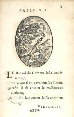Le renard et le corbeau. Source : http://data.abuledu.org/URI/59162861-le-renard-et-le-corbeau