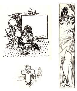 Le renard et le corbeau en 1895. Source : http://data.abuledu.org/URI/59f9ee57-le-renard-et-le-corbeau