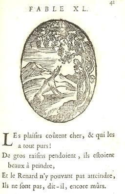 Le renard et les raisins. Source : http://data.abuledu.org/URI/591642f9-le-renard-et-les-raisins