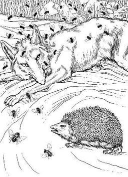 Le Renard, les Mouches, et le Hérisson. Source : http://data.abuledu.org/URI/519bfc56-le-renard-les-mouches-et-le-herisson