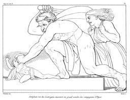 Le roi Antiphate dans l'Odyssée. Source : http://data.abuledu.org/URI/50214c7d-le-roi-antiphate-dans-l-odyssee