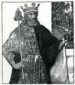 Le roi Arthur en 1903. Source : http://data.abuledu.org/URI/595041c6-le-roi-arthur-en-1903