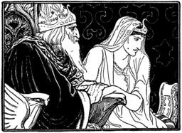 Le roi et Manar Al-Sana. Source : http://data.abuledu.org/URI/51db2f81-le-roi-et-manar-al-sana