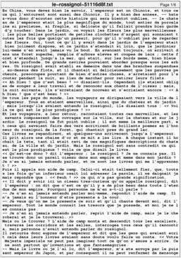 Le rossignol. Source : http://data.abuledu.org/URI/51116d8f-le-rossignol