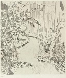 Le ruisseau sous bois en 1927. Source : http://data.abuledu.org/URI/55585049-le-ruisseau-sous-bois-en-1927