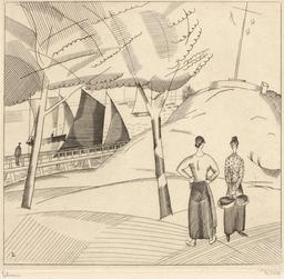 Le sémaphore en 1923. Source : http://data.abuledu.org/URI/5558511e-le-semaphore-en-1923