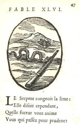 Le serpent et la lime. Source : http://data.abuledu.org/URI/5916433c-le-serpent-et-la-lime
