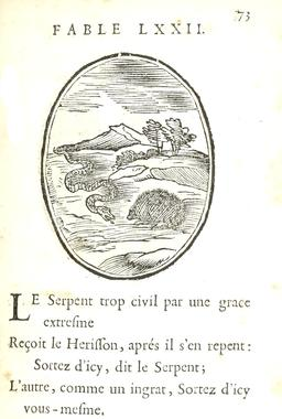 Le serpent et le hérisson. Source : http://data.abuledu.org/URI/59164a8a-le-serpent-et-le-herisson
