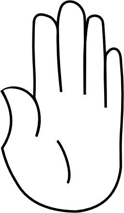 Le signe 5 avec la main. Source : http://data.abuledu.org/URI/53381846-le-signe-5-avec-la-main