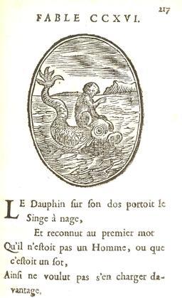 Le singe et le dauphin. Source : http://data.abuledu.org/URI/5916bdd6-le-singe-et-le-dauphin