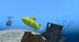 Le sous-marin jaune de Second Life. Source : http://data.abuledu.org/URI/546af735-le-sous-marin-jaune-de-second-life