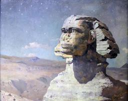 Le sphinx d'Uljanow en 1904. Source : http://data.abuledu.org/URI/53f5107c-le-sphinx-d-uljanow-en-1904