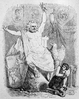 Le statuaire et la statue de Jupiter. Source : http://data.abuledu.org/URI/51fa04bd-le-statuaire-et-la-statue-de-jupiter