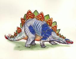 Le stégosaurus. Source : http://data.abuledu.org/URI/55471519-le-stegosaurus