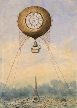 Le temps captif dans une montgolfière. Source : http://data.abuledu.org/URI/50ddb803-le-temps-captif-dans-une-montgolfiere
