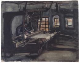 Le tisserand de Nuenen en 1884. Source : http://data.abuledu.org/URI/5515ba05-le-tisserand-de-nuenen-en-1884