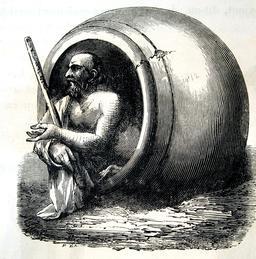 Le tonneau de Diogène. Source : http://data.abuledu.org/URI/56bb979d-le-tonneau-de-diogene