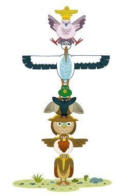 Le totem des oiseaux. Source : http://data.abuledu.org/URI/5629f684-le-totem-des-oiseaux