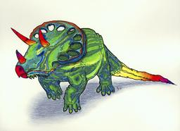 Le tricératops. Source : http://data.abuledu.org/URI/554720c5-le-triceratops