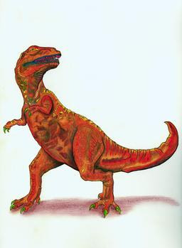Le tyrannosaurus. Source : http://data.abuledu.org/URI/55472959-le-tyrannosaurus