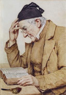Le vieux lecteur. Source : http://data.abuledu.org/URI/519f75c9-le-vieux-lecteur
