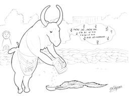 Le zébu et le zorille. Source : http://data.abuledu.org/URI/5397f178-le-zebu-et-le-zorille