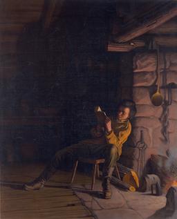 Lecture au coin du feu en 1868. Source : http://data.abuledu.org/URI/5962b9b6-lecture-au-coin-du-feu-en-1868