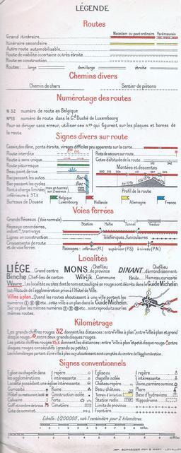 Légende de carte routière en 1940. Source : http://data.abuledu.org/URI/50e6ea99-legende-de-carte-routiere-en-1940