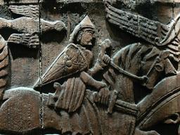 Légende islandaise du chevalier au lion. Source : http://data.abuledu.org/URI/5357efac-legende-islandaise-du-chevalier-au-lion