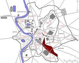 Les 14 régions de Rome. Source : http://data.abuledu.org/URI/5043cdd9-les-14-regions-de-rome