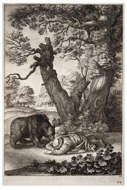 Les bûcherons et l'ours. Source : http://data.abuledu.org/URI/5194a599-les-bucherons-et-l-ours