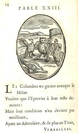 Les colombes et le milan. Source : http://data.abuledu.org/URI/59163d42-les-colombes-et-le-milan