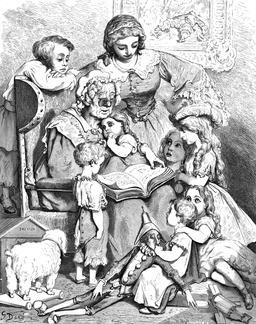 Les contes de ma mère l'Oye. Source : http://data.abuledu.org/URI/53e91ce1-les-contes-de-ma-mere-l-oye